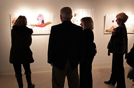 Gallery visitors during event